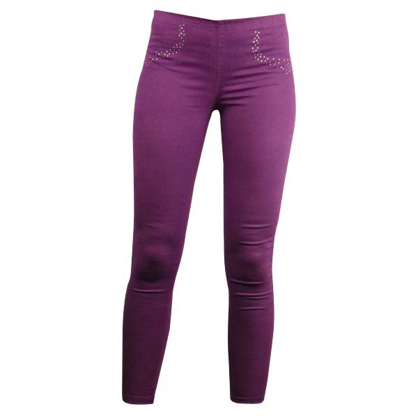 Ladies Womens Coloured Diamante Denim Leggings Stretchy Jeggings Size UK 8 - 16