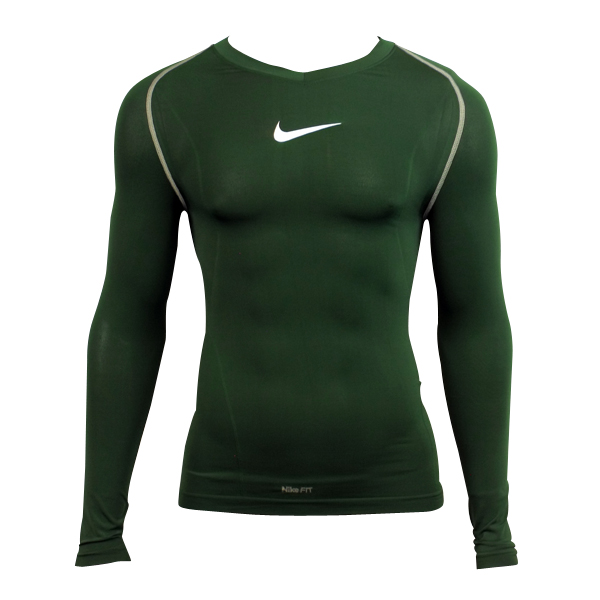 Mens Nike Pro Green Dry Dri Fit Running Training Fitted