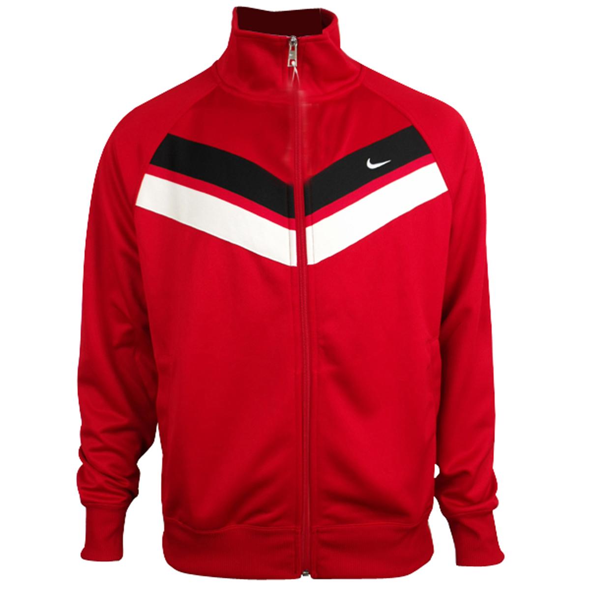 nike mens jacket retro polyester vintage track suit