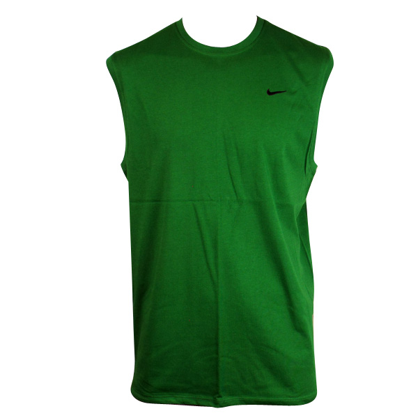 Mens nike dry dri fit running vest top red t shirt gym for Best athletic dress shirts