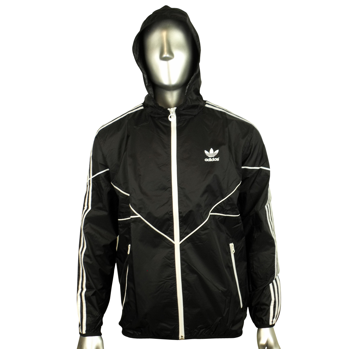 men adidas originals adicolor black windbreaker jacket ac cld wb trefoil coat ebay. Black Bedroom Furniture Sets. Home Design Ideas