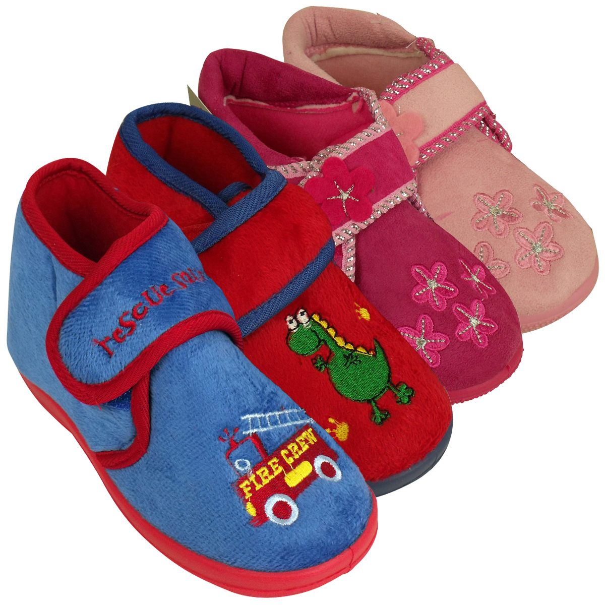 For some reason, kids love walking around barefoot, and in the cold months, we freeze just looking at our kids' feet. End the era of cold feet by scooping up one of these cozy pairs of slippers.