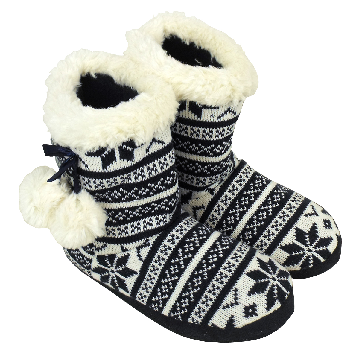 Bootee Slipper Womens Quality Furry Ankle Boot Eskimo Slippers ...