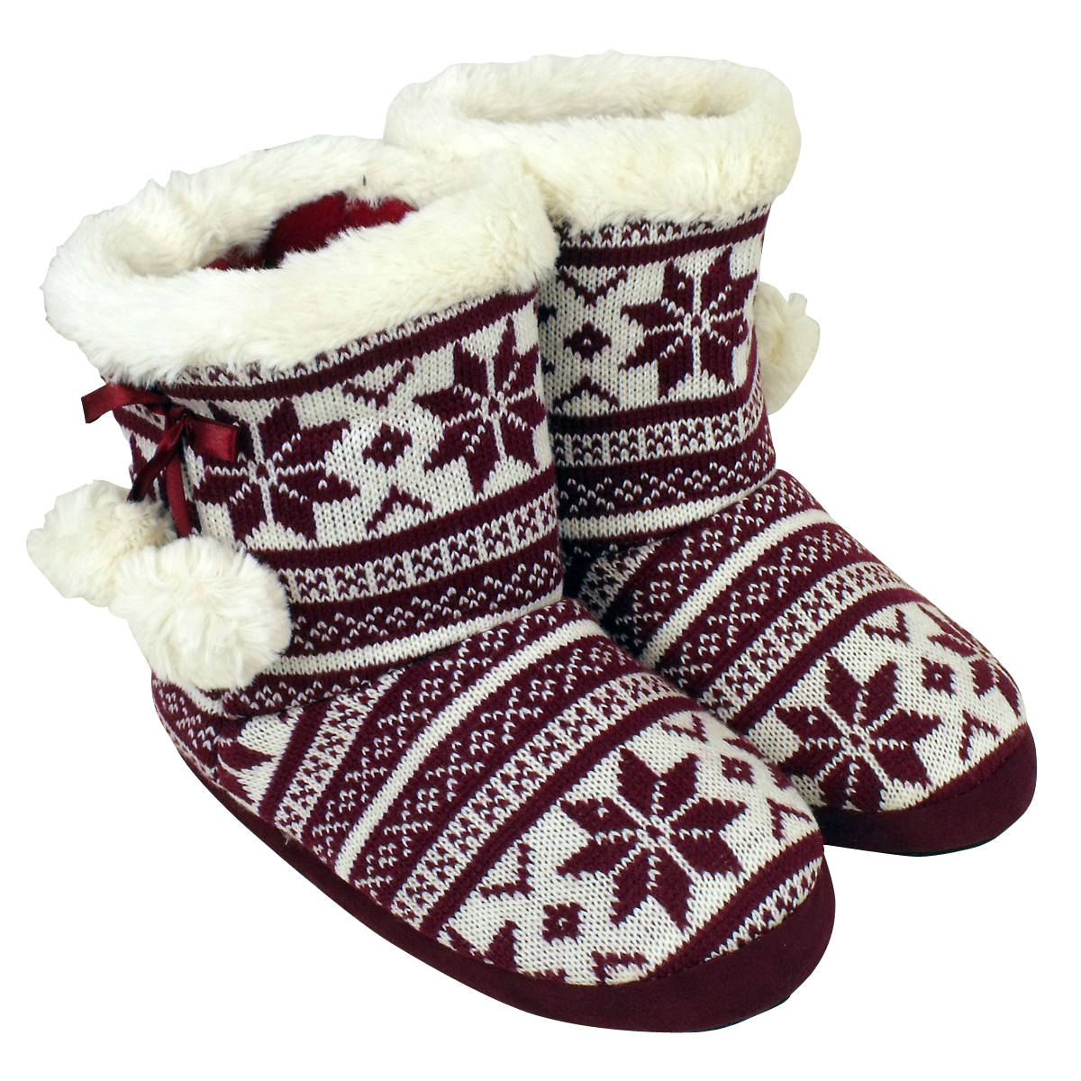 Quality Eskimo Bootee Ankle Boot Slippers Women Furry Warm Slipper
