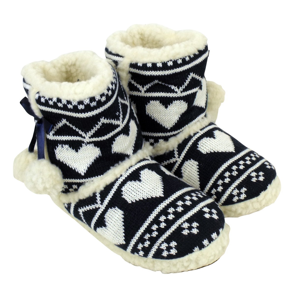 Womens Fluffy Boot Slippers | Santa Barbara Institute for