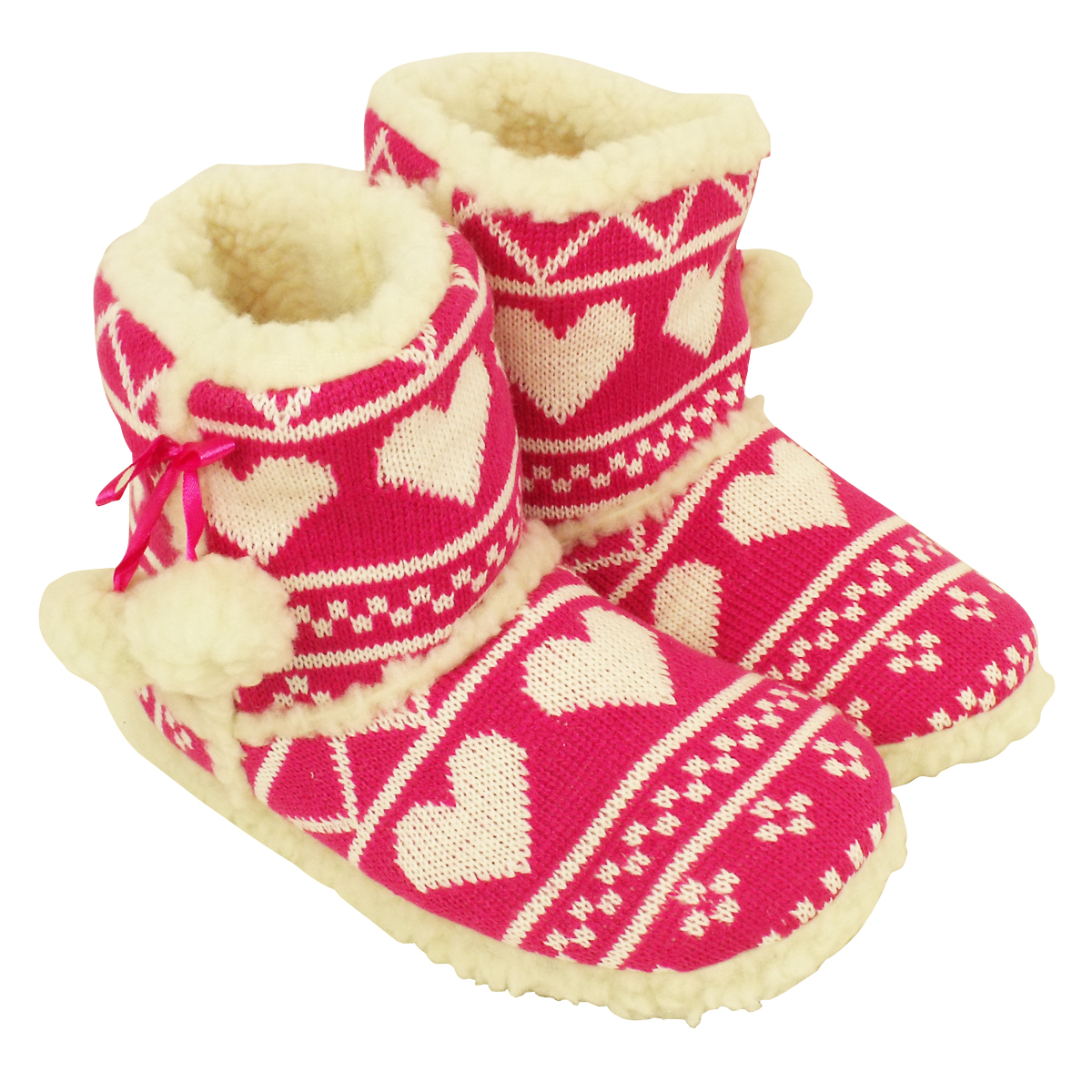 Womens Quality Furry Bootee Ankle Boot Slipper Ladies Eskimo Slippers Sizes 38  K3HZ4ZMA6