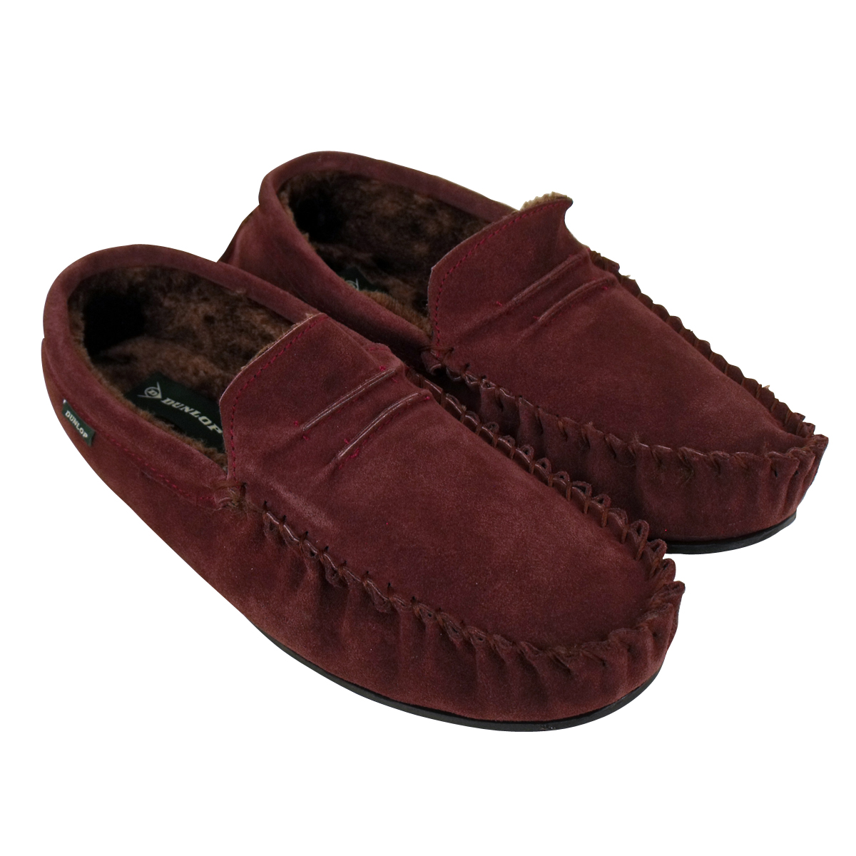 Mens Bedroom Slippers Leather Mens Dunlop Moccasin Suede Leather Slippers Gents Moccasins
