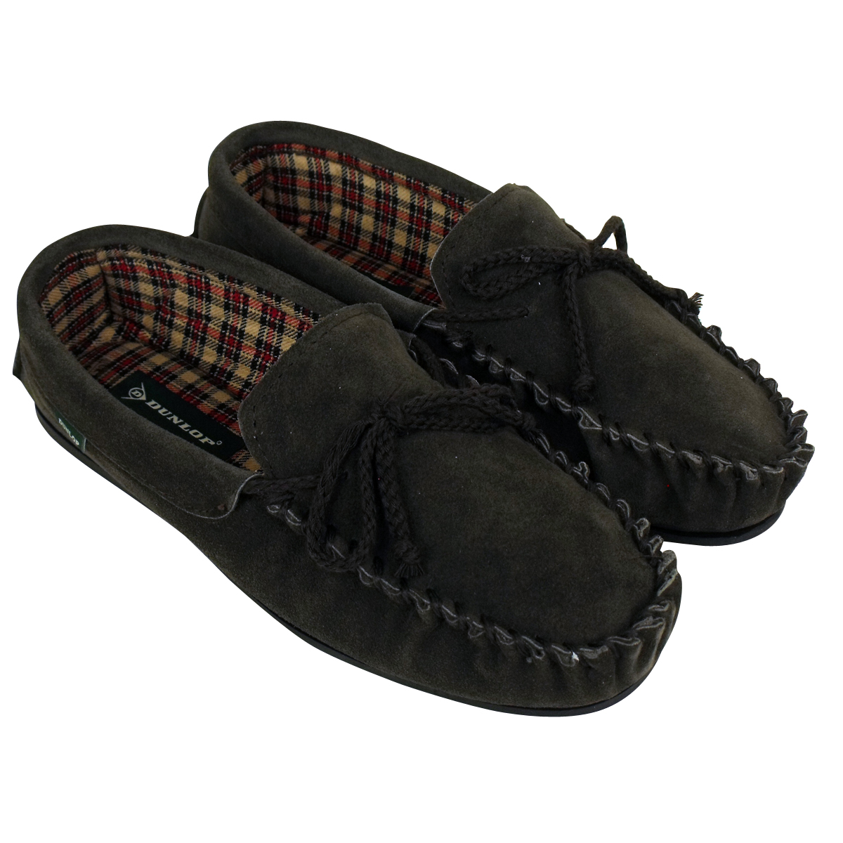 Men Dunlop Moccasin Suede Leather Slippers Moccasins