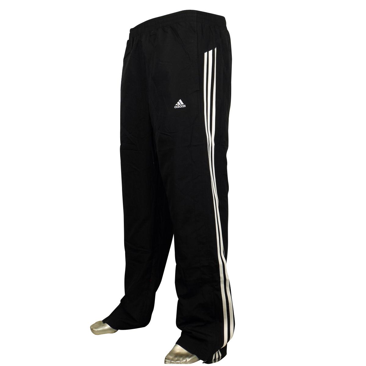 7ffe835a8d8b Mens Adidas 3 Stripe Tracksuit Track Pant Jog Pants Open Hem Bottoms ...