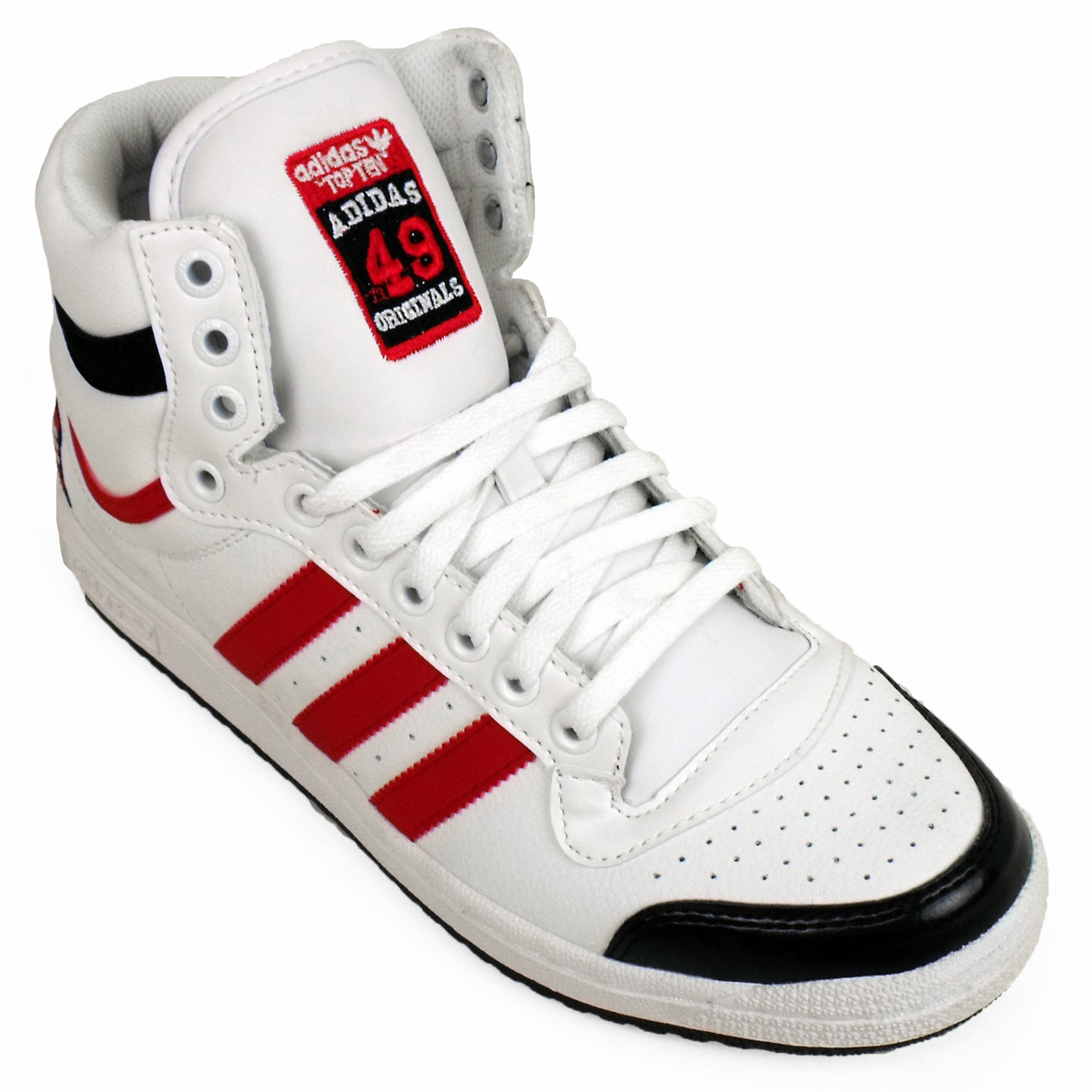 Mens adidas top ten hi tops basketball boot trainers ankle skate shoe