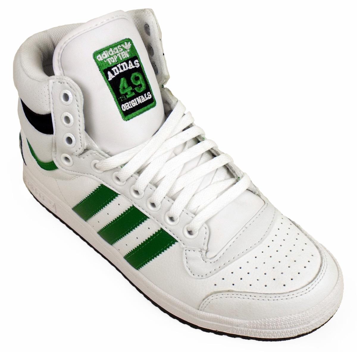 mens adidas top ten hi tops basketball boot trainers ankle skate shoe trainer ebay. Black Bedroom Furniture Sets. Home Design Ideas