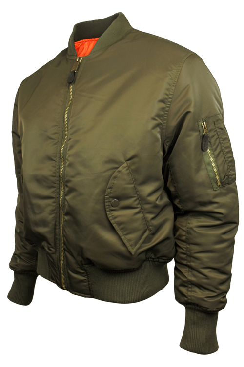 Mens-Location-MA1-Pilot-Military-Army-Flight-Bomber-Jacket-Original-Combat-Coat