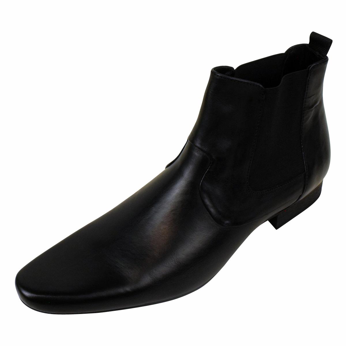 mens h by hudson leather smart chelsea boot soes formal. Black Bedroom Furniture Sets. Home Design Ideas