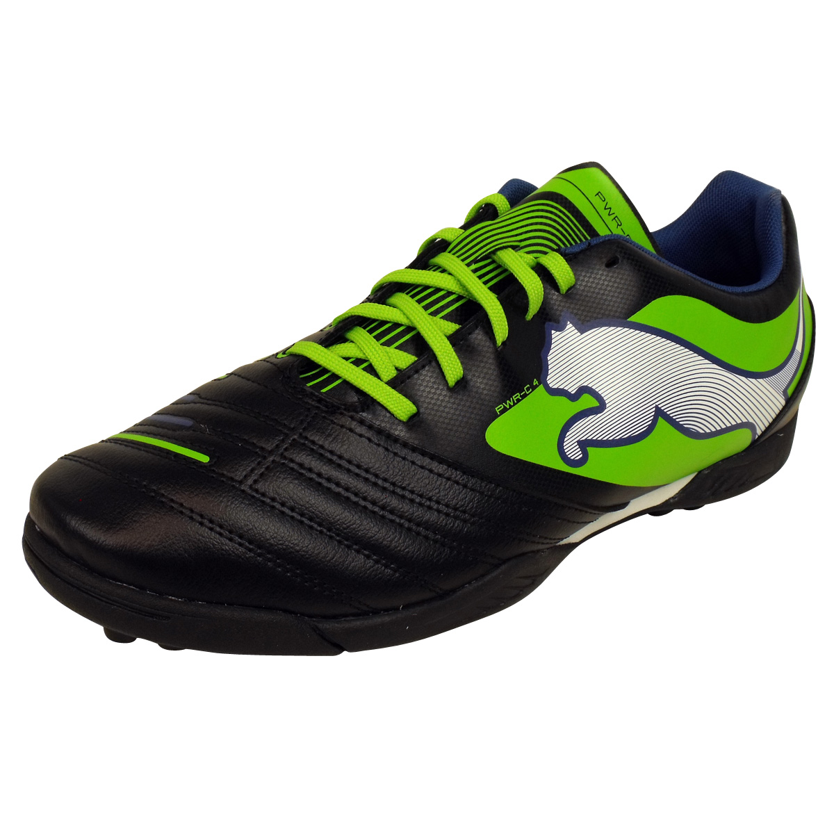 Mens-Puma-Powercat-4-TT-Black-Football-Astro-Turf-Trainer-Soccer-Trainers-Astros