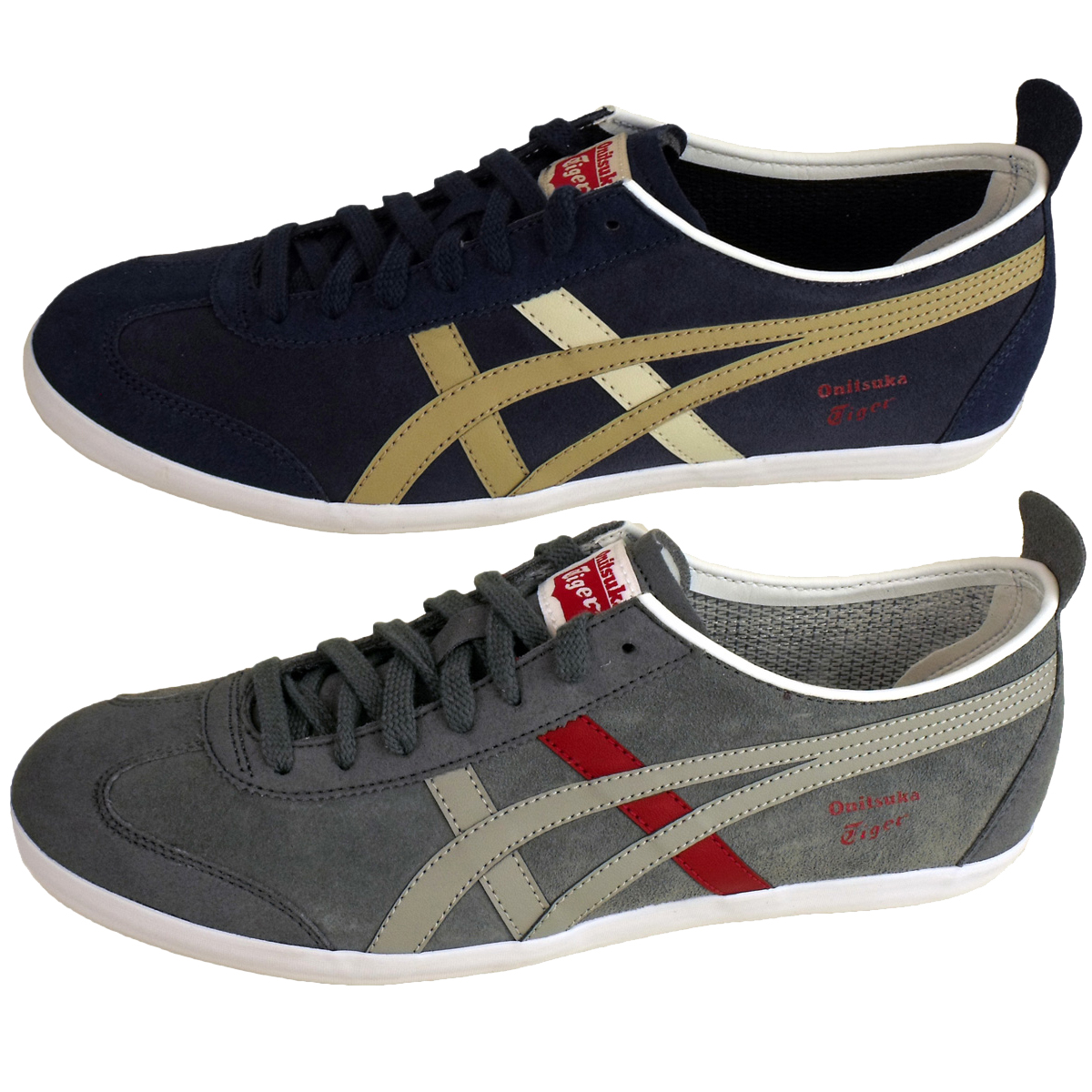 mens asics onitsuka tiger mexico 66 trainers suede leather trainer retro shoes. Black Bedroom Furniture Sets. Home Design Ideas