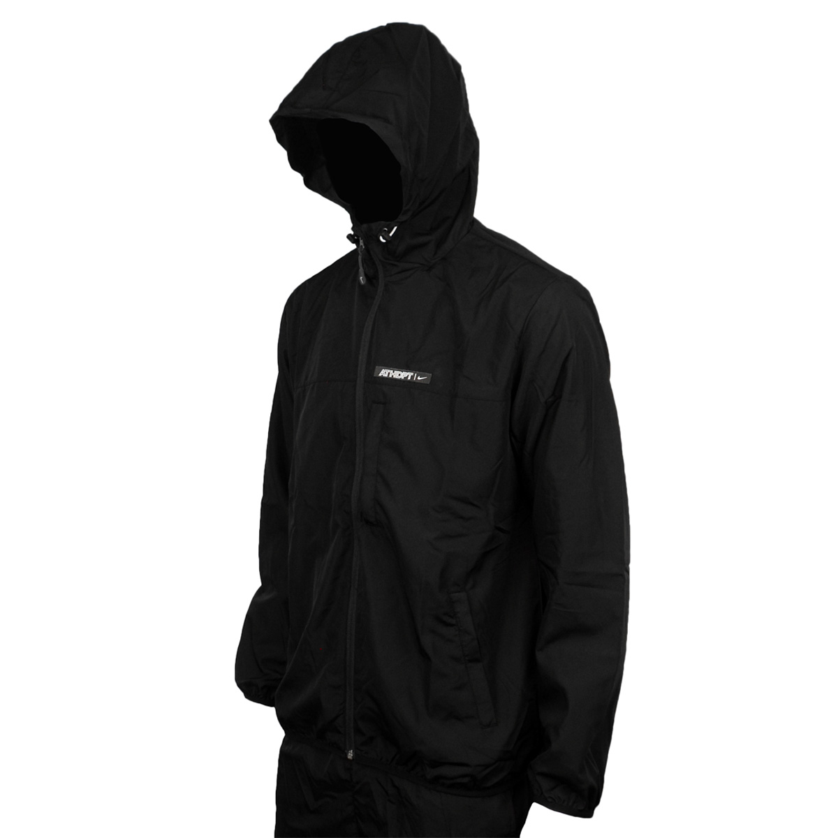 6fc575a4c60b nike black hooded jacket