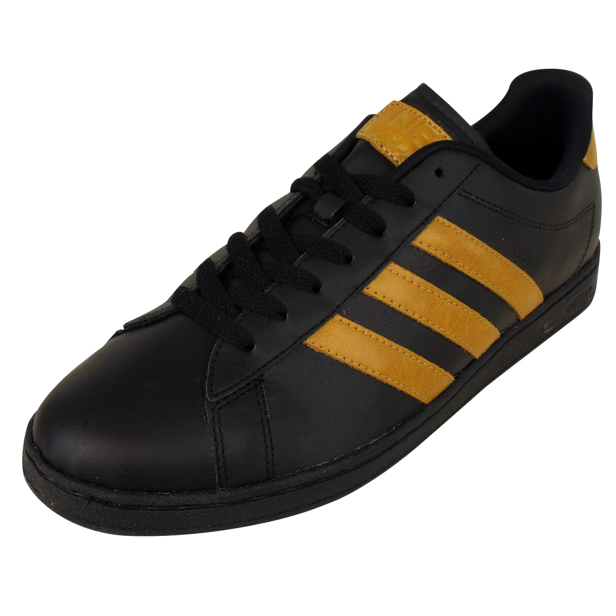 Neo Adidas: Mens Adidas Derby II Neo Label Trainers Black Leather