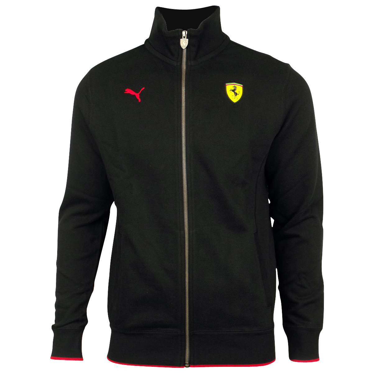jacke herren puma scuderia ferrari sf formel 1 schwarz. Black Bedroom Furniture Sets. Home Design Ideas