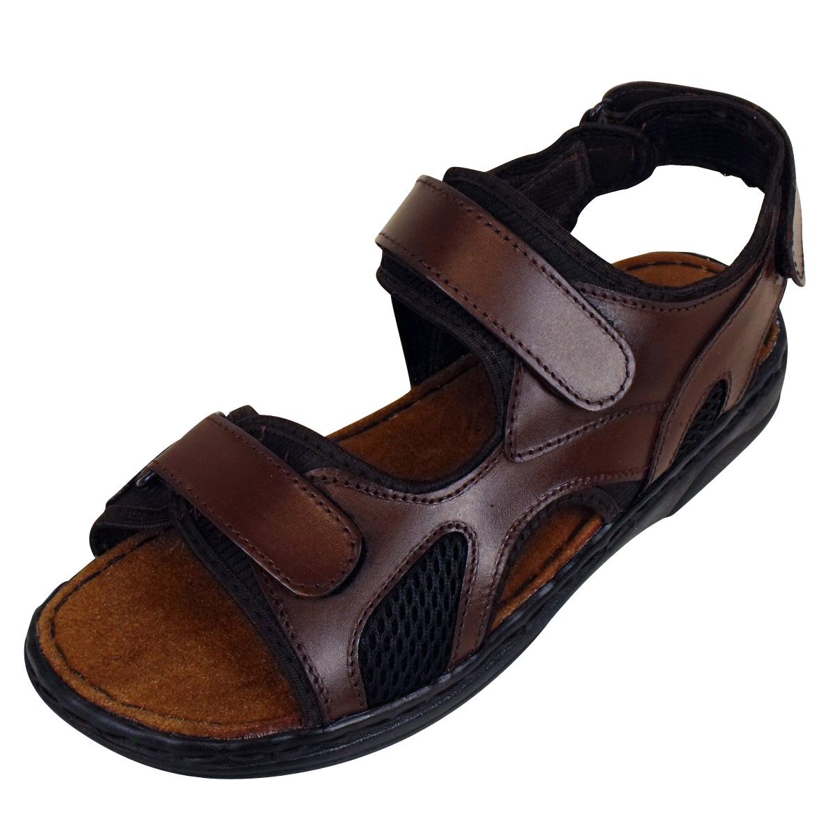 mens leather smart slip on sandal mules sandals