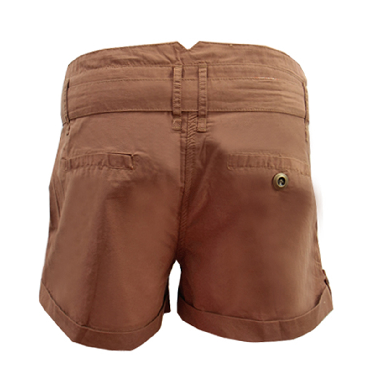 Ladies Womens C&A Brown Khaki Yessica Belted Chino Shorts Hot ...