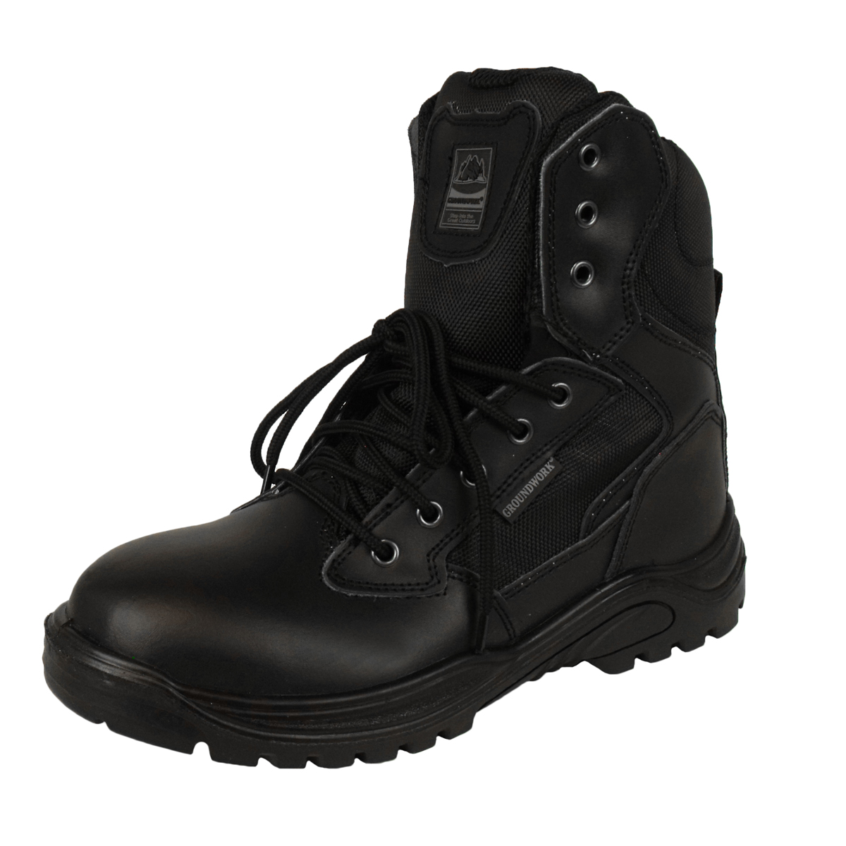 Mens Leather Combat Tactical Safety Ankle Boots Security