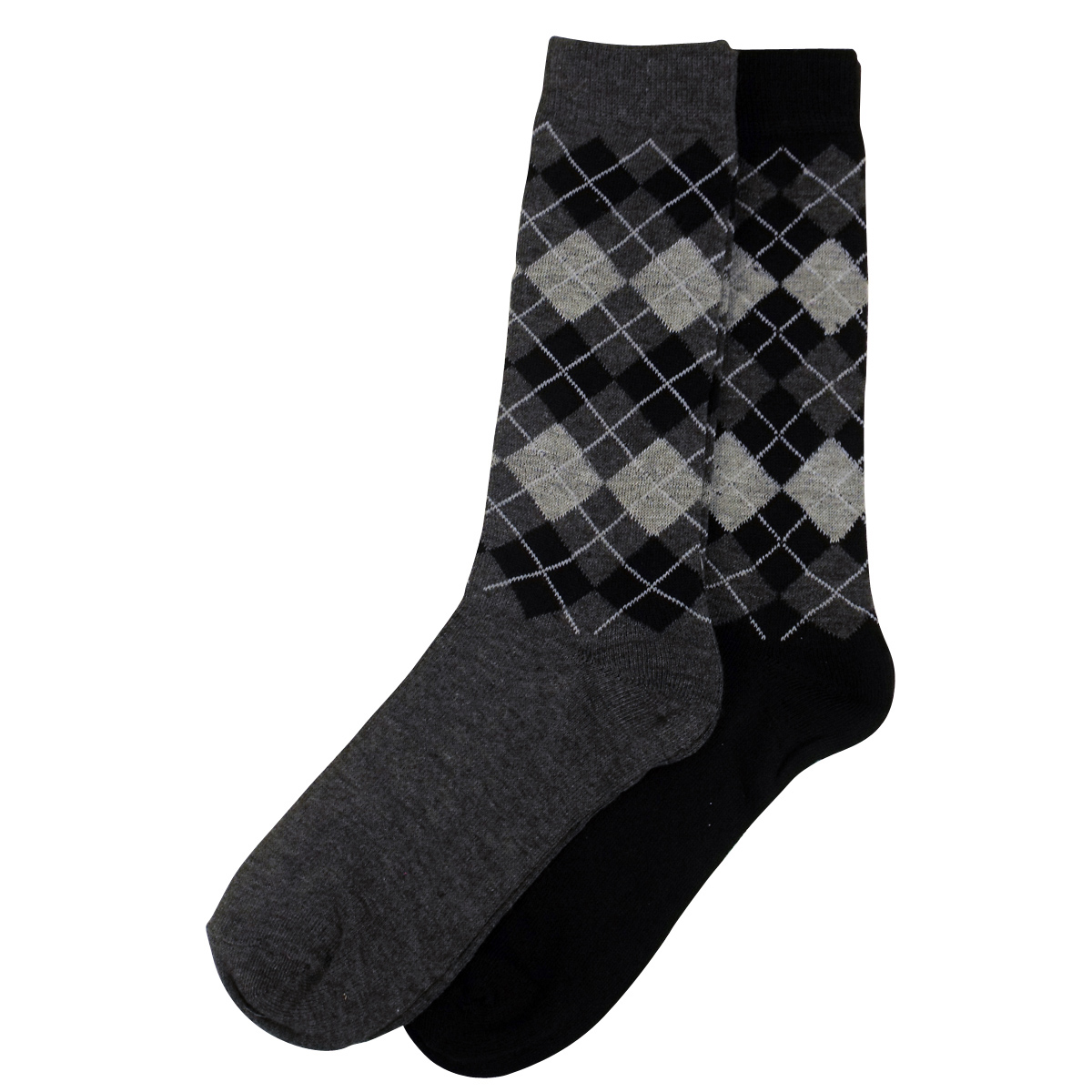 6 X Pairs Mens Argyle Suit Dress Socks Small Big Check