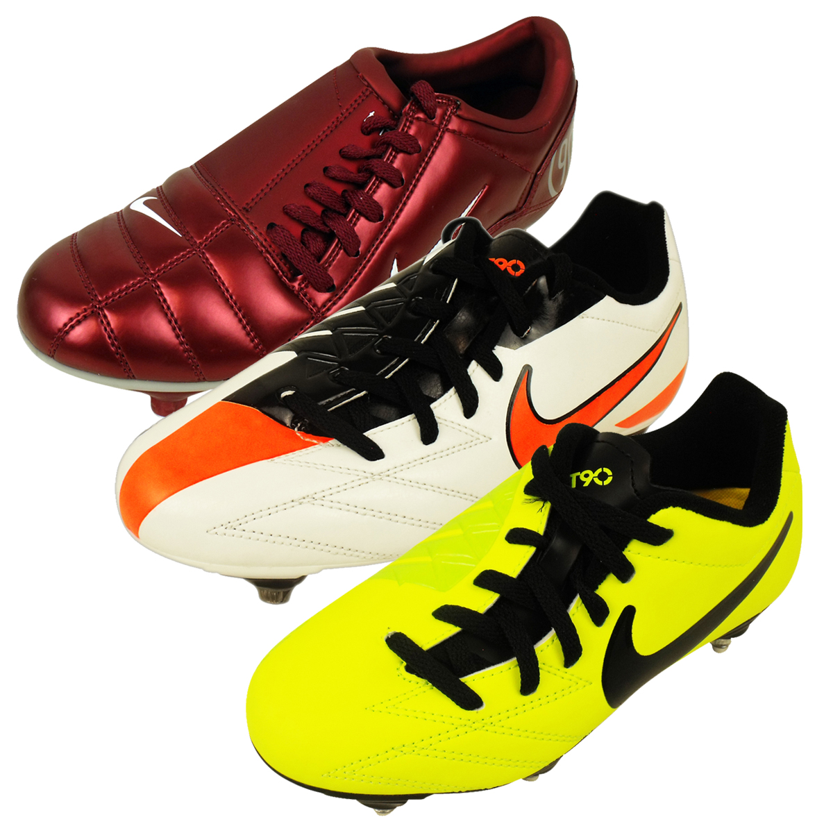 Boys Nike Total 90 SG Soft Ground Football Boots Junior ... - photo#37