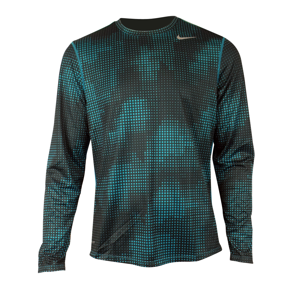 Mens nike dry dri fit sublimated running shirt training for Running dri fit shirts