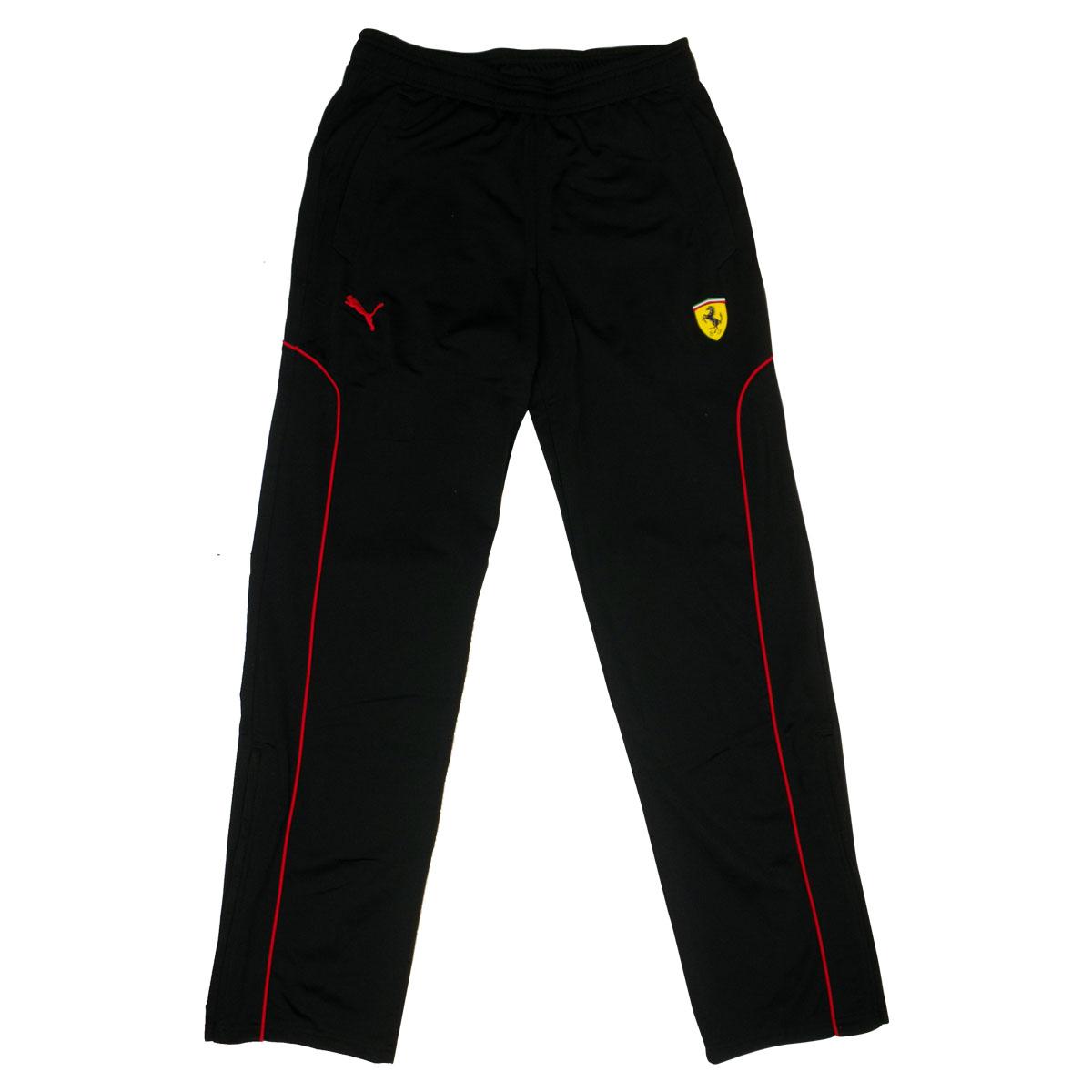 Mens Boys Puma Sf Scuderia Ferrari Black Pants Tracksuit