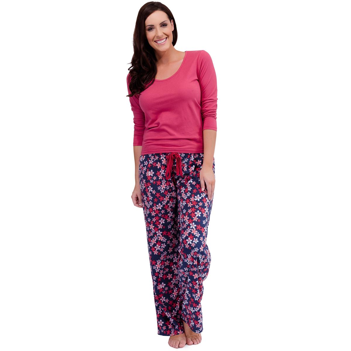 womens warm fleece winter pj pyjama set night wear pj 39 s. Black Bedroom Furniture Sets. Home Design Ideas