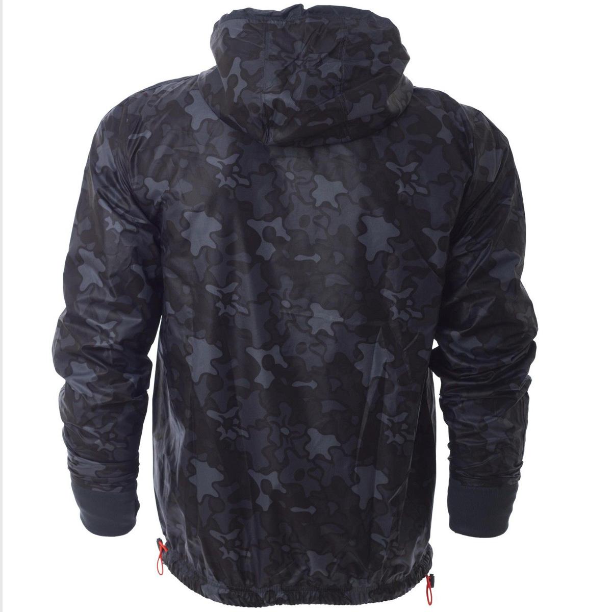 mens adidas originals camo reversible trefoil windbreaker jacket hooded coat ebay. Black Bedroom Furniture Sets. Home Design Ideas