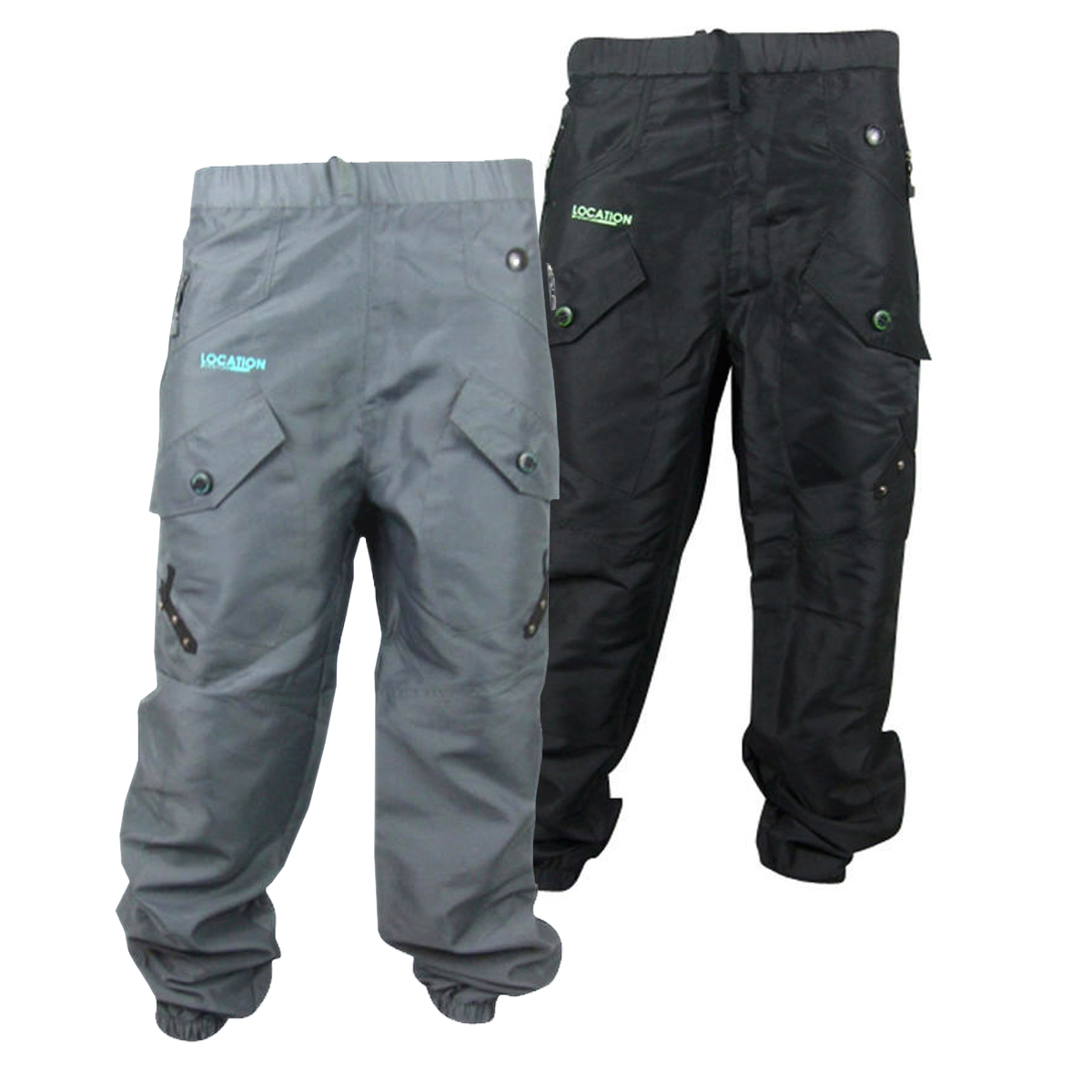 Mens Location Cargo Style Tracksuit Track Pants Cuffed Bottoms ...