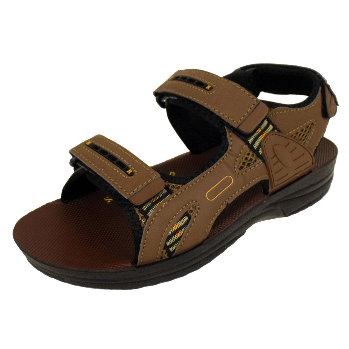 Mens Velcro Sports Beach Sandal Walking Hiking Trek ...