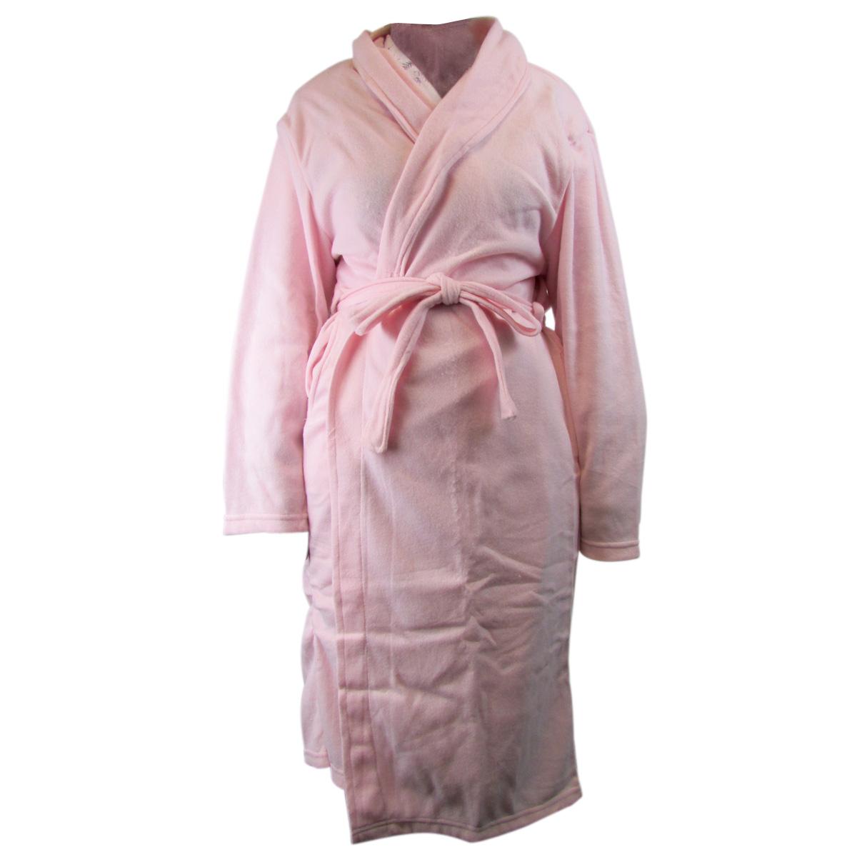femmes supersoft robe de chambre polaire peignoir bain doux taille unique ebay. Black Bedroom Furniture Sets. Home Design Ideas