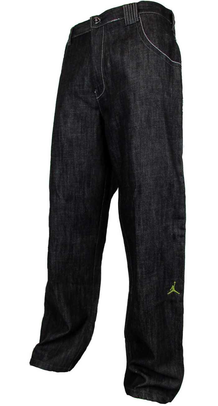 Mens Nike Air Jordan Jump Man Denim Jeans Black Cat Fit