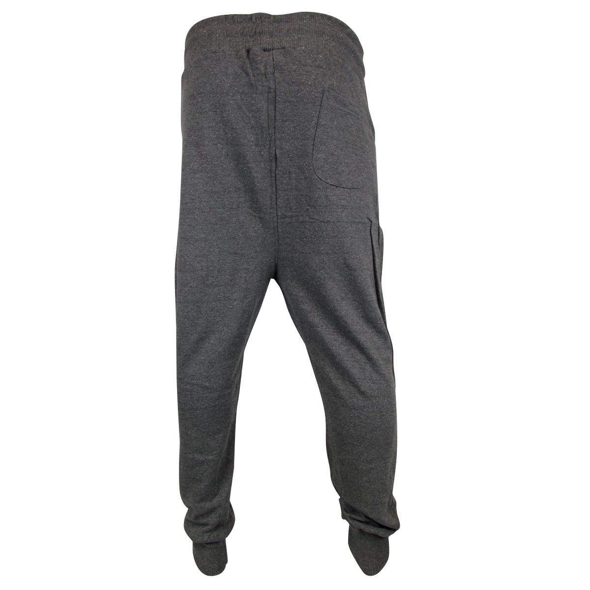 Awesome Mens Joggers Skinny Drop Crotch Cuffed Jogging Pants Tracksuit Bottoms Fleece | EBay