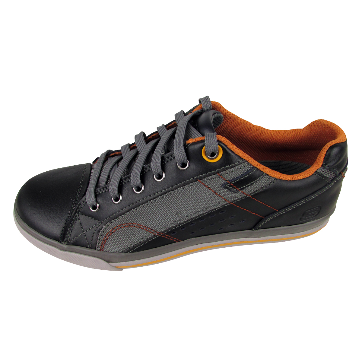 herren skechers leder turnschuhe memory foam trainer schn rschuhe neu ebay. Black Bedroom Furniture Sets. Home Design Ideas