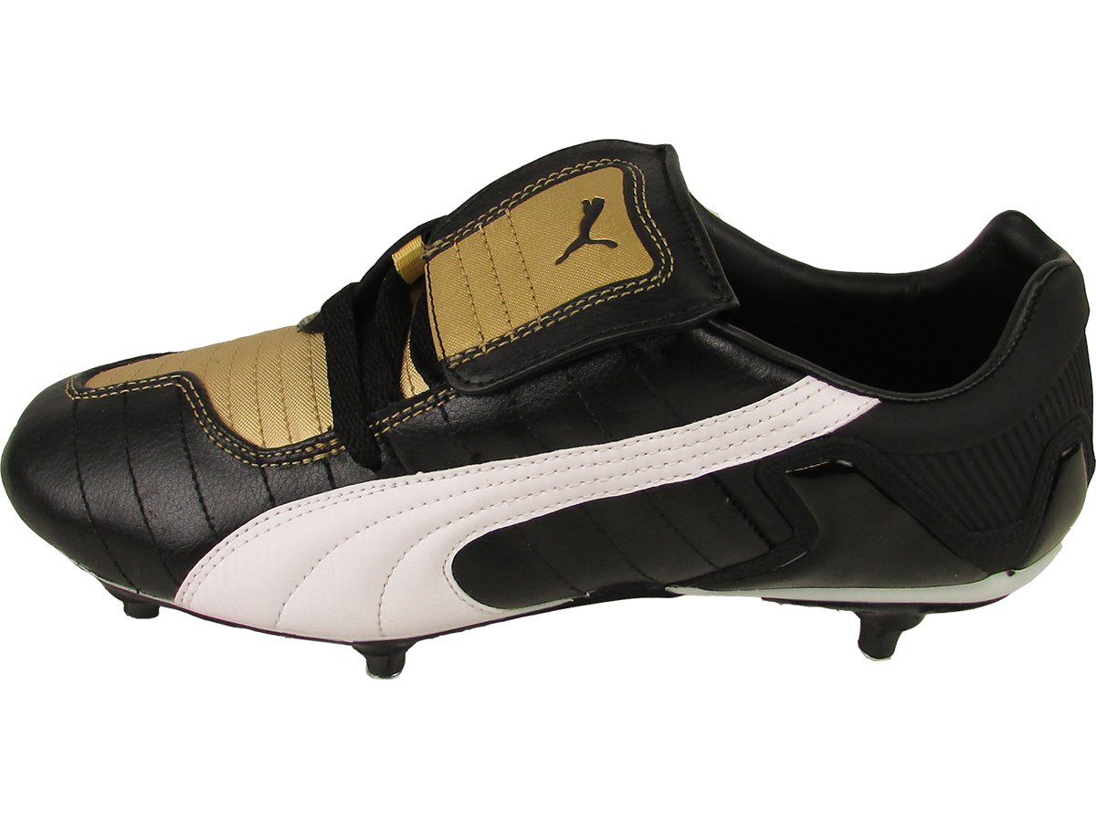 mens v kon iii sg football boots black leather soccer