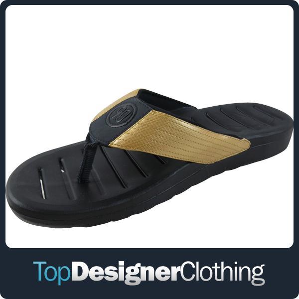 herren schwarz gold flip flops sandalen nike total 90. Black Bedroom Furniture Sets. Home Design Ideas