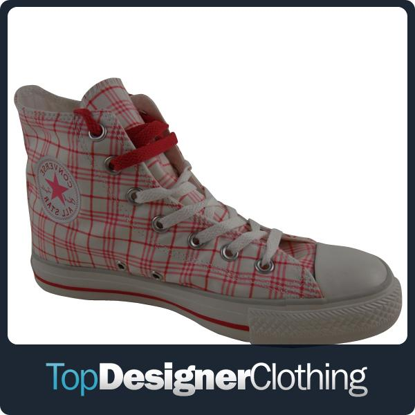 Womens-Converse-All-Star-Shoes-White-Pink-Canvas-Trainers-Hi-Top-Ankle-Boot-3-8