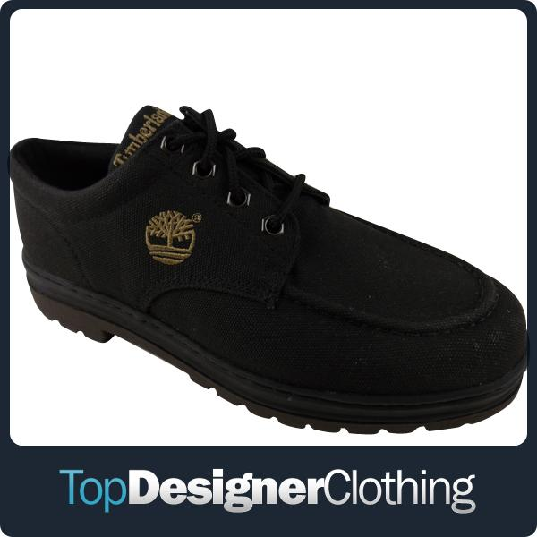 New-Mens-Timberland-Black-Canvas-Shoe-Bush-Hiker-MTO-Casual-Shoes-Size-UK-6-12