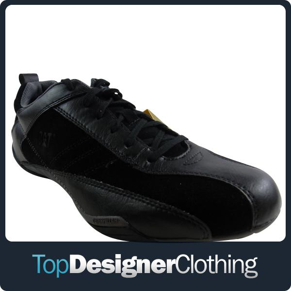 Mens-Caterpillar-CAT-Deploy-Oxford-Trainer-Shoes-Black-Suede-Leather-Trainers
