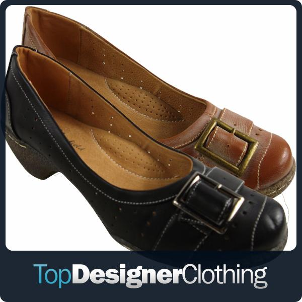 Ladies-Leather-Lined-Comfort-Shoes-Womens-Work-Office-Casual-Heel