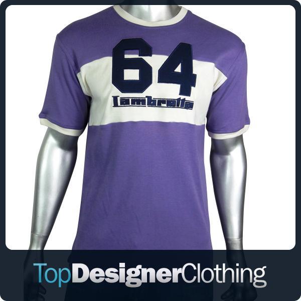 Mens-Lambretta-Purple-Mod-Logo-Indie-Skin-T-Shirt-Tee-Top-Original-Smart-Size