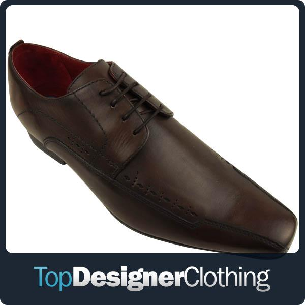 Mens-Hush-Puppies-Hardy-Brown-Leather-Smart-Derby-Shoes-Formal-Lace-Up-Shoe-7-12