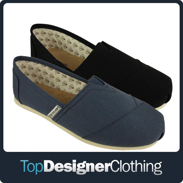 Mens-Dunlop-Canvas-Trainers-Leather-Insock-Espadrilles-Plimsoll-Pumps-Shoes-6-12