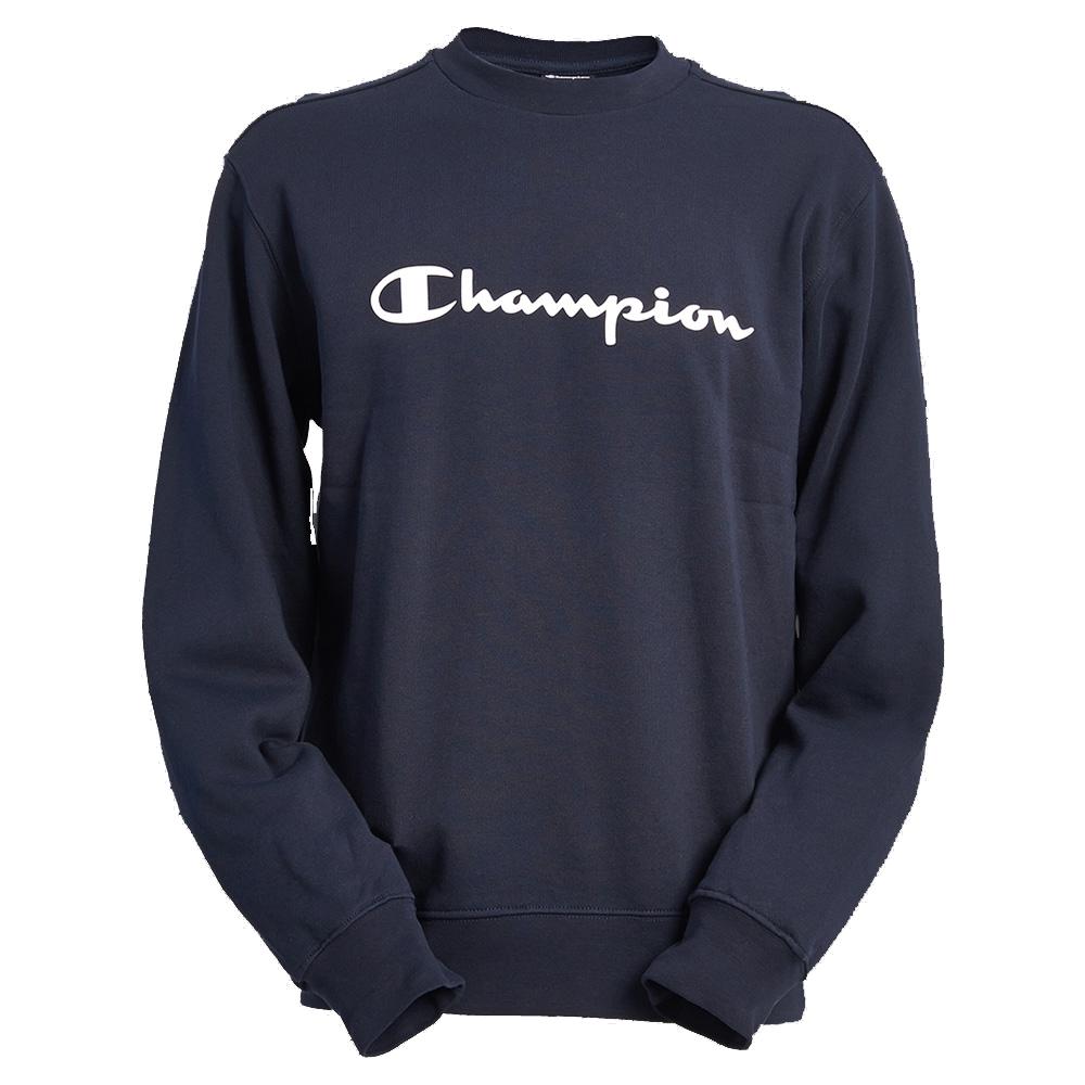 Champion Mens Combed Cotton Fleece Crewneck Long Sleeve Sweatshirt ...