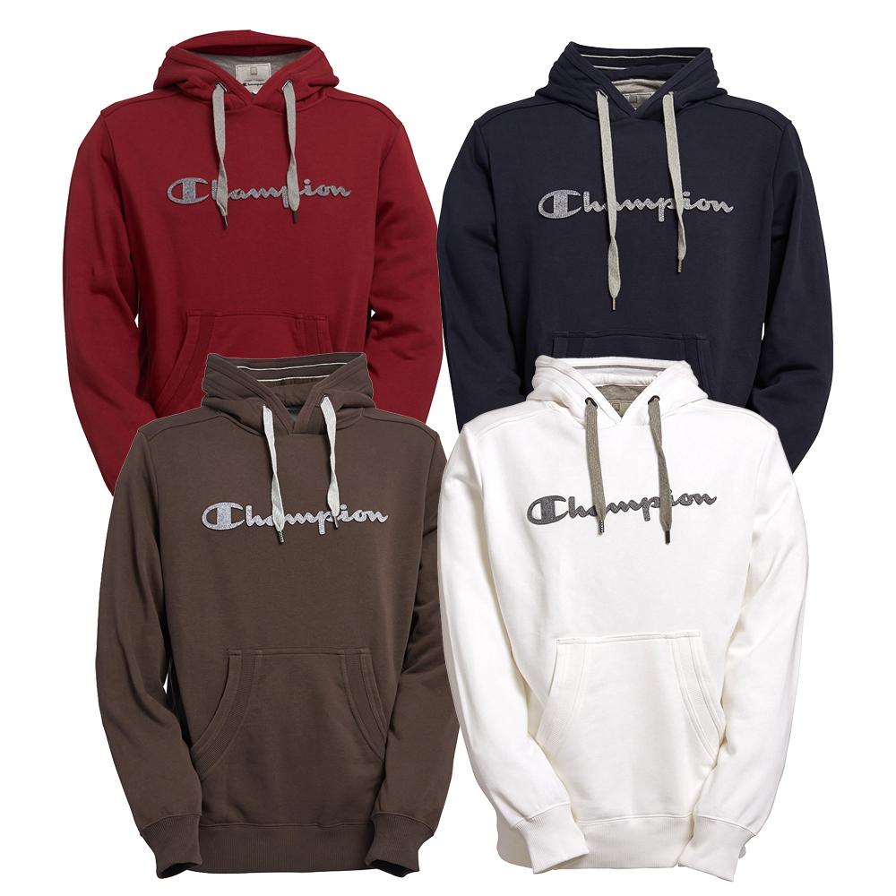 Champion-Mens-Super-Fleece-Hooded-Sweatshirt-Pullover-Hoodie-Active