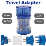 View Item UNIVERSAL WORLDWIDE 4 in 1 Travel Power AC Wall Plug Adapter UK/EUR/USA/AUS NEW