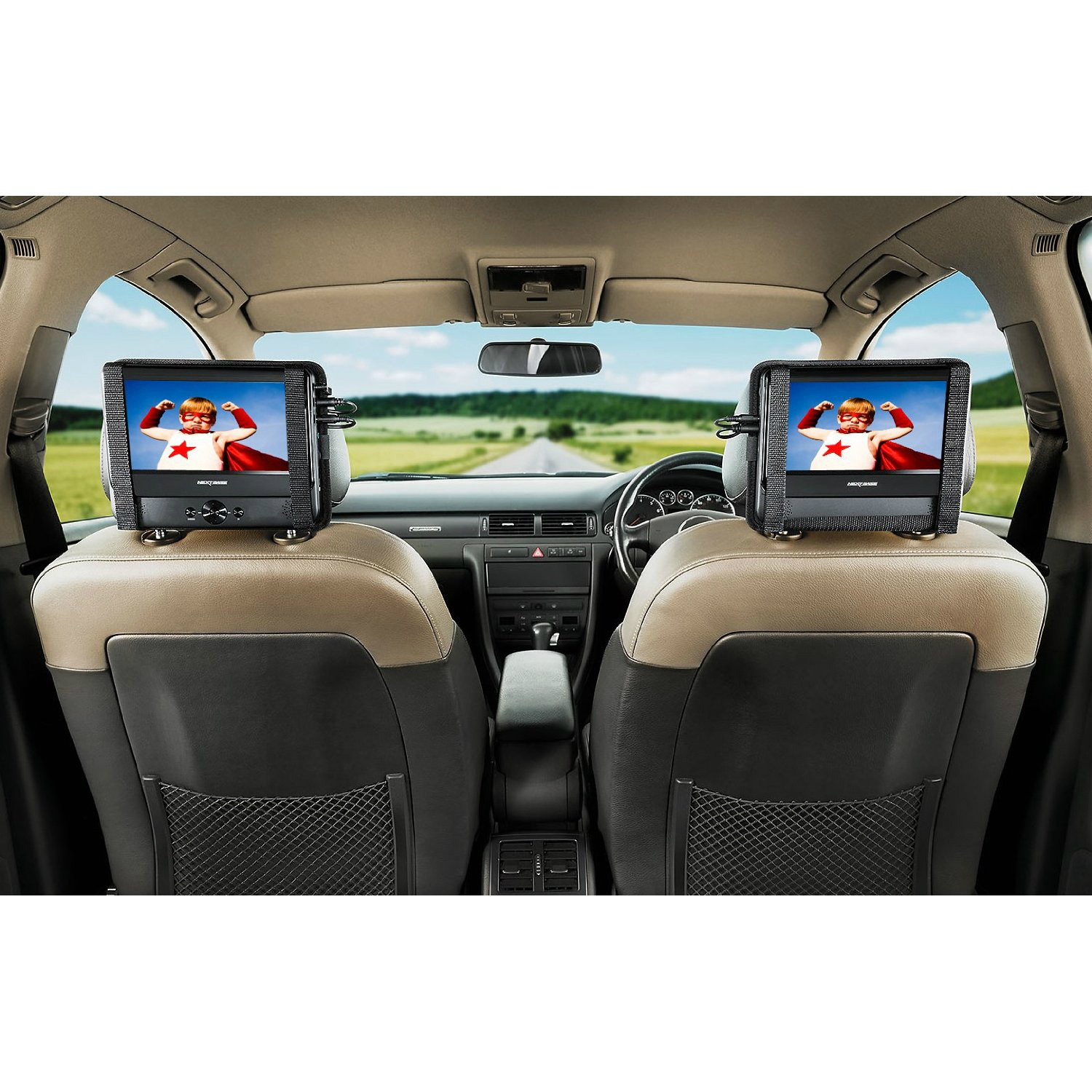 next base nb48am twin 7 portable dvd player with car kit. Black Bedroom Furniture Sets. Home Design Ideas